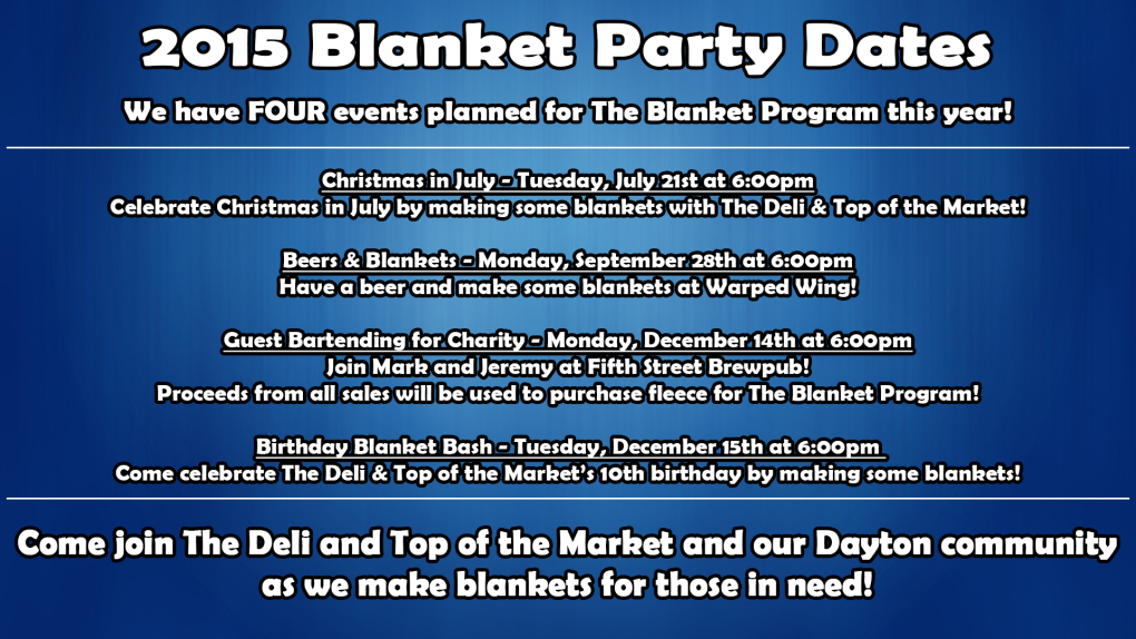 Blanket Party Dates