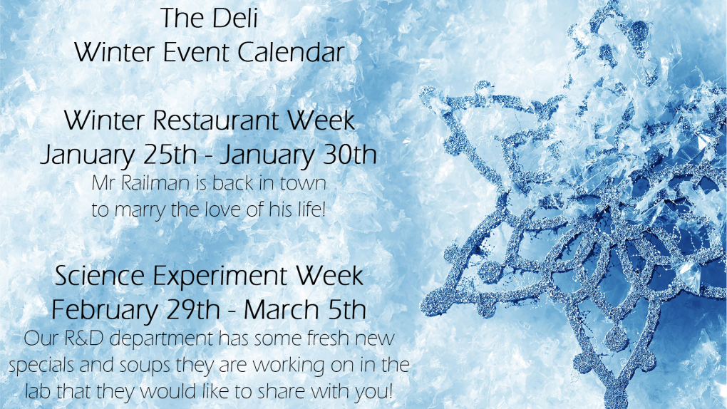 Deli Winter Event Calendar