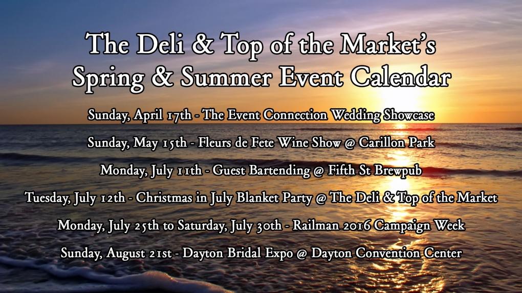 Summer Event Calendar